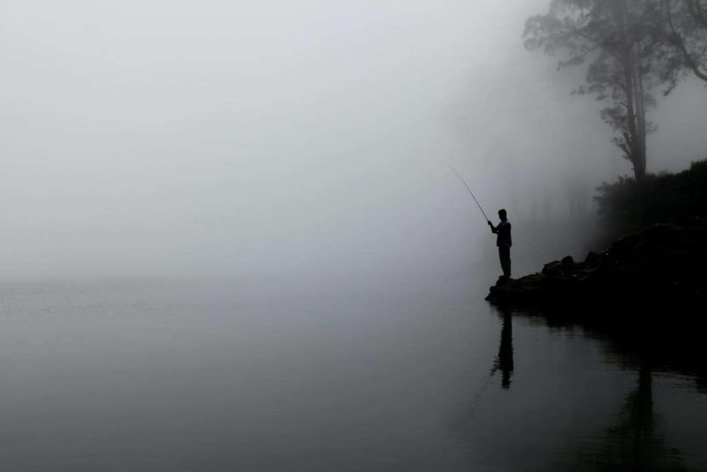 not catching any fish in bad weather