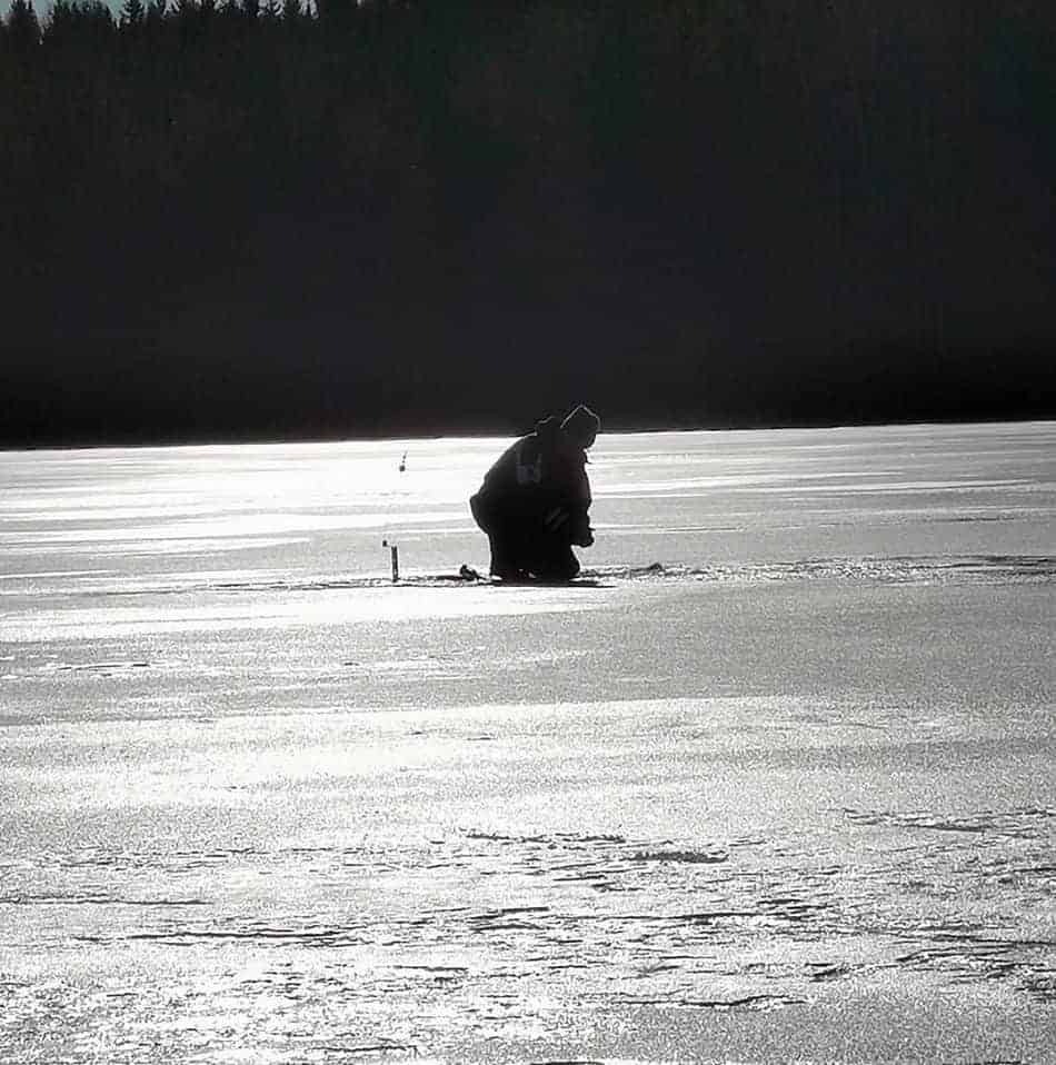 how deep should you ice fish for northern pike