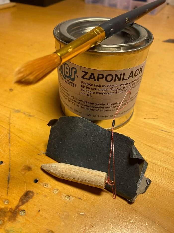 varnish for dead bait pop up stick