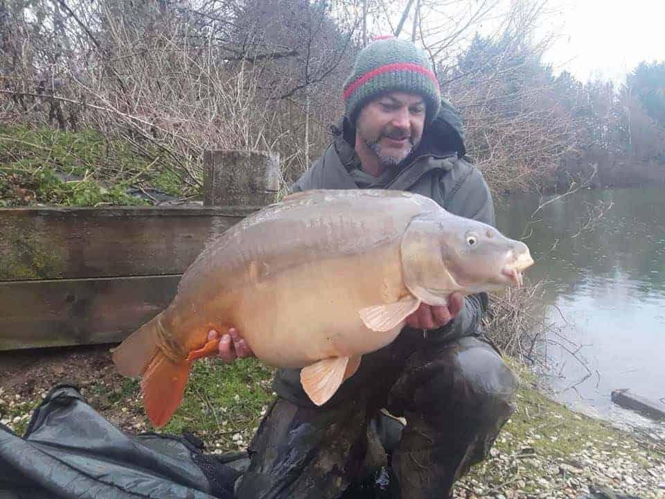 carp fishing in winter