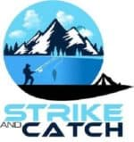 This is the logo of Strike and Catch, a fishing website that will help you become a better angler.
