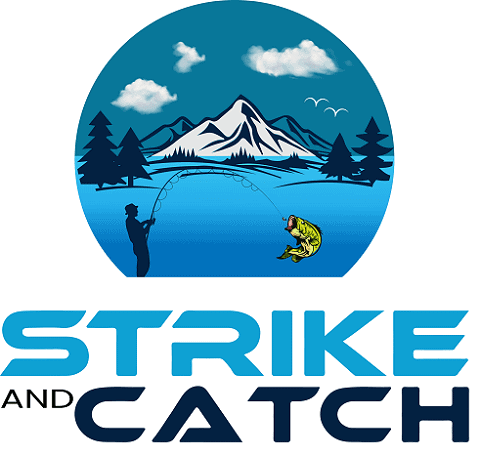 The logo of the fishing website Strike and Catch