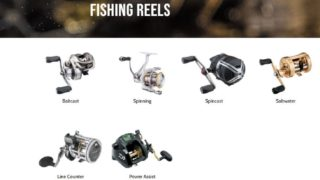 an image of an online fishing store with reels
