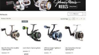 a screenshot of an online fishing store